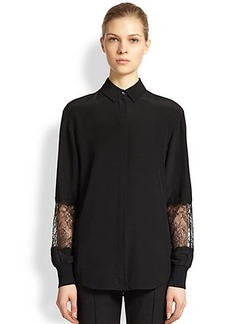 Jason Wu Silk Lace-Insert Blouse