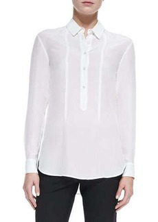Jason Wu Silk Long-Sleeve Blouse, Ivory