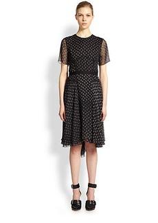Jason Wu Silk Paisley-Print Cascade Dress