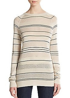 Jason Wu Silk Pointelle-Knit Sweater