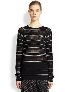 Jason Wu Silk Pointelle-Knit Sweater