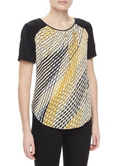 Jason Wu Silk Printed Short-Sleeve Tee