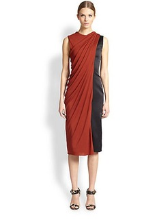 Jason Wu Silk Satin & Jersey Dress