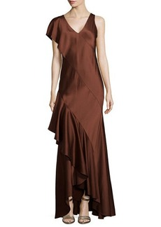 Jason Wu Silk Slip Gown with Back Cascade