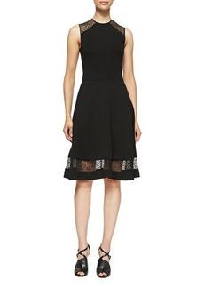 Jason Wu Sleeveless Jersey & Lace Dress  Sleeveless Jersey & Lace Dress
