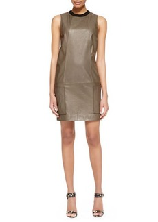 Jason Wu Sleeveless Leather Tunic Dress