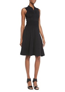 Jason Wu Sleeveless Polo Dress W/ Flounce Hem