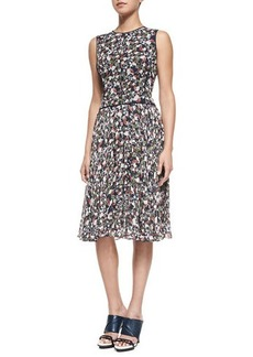 Jason Wu Sleeveless Printed Fit & Flare Dress