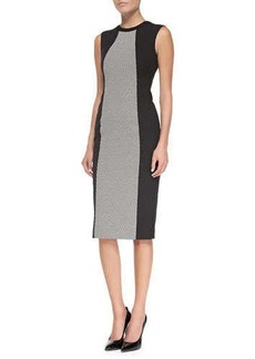 Jason Wu Sleeveless Sheath Dress with Woven Panel