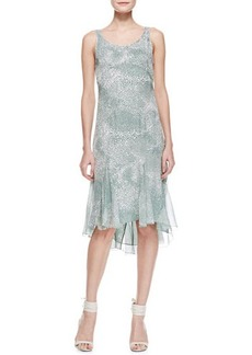 Jason Wu Sleeveless Silk Godet Dress, Sage