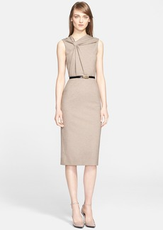 Jason Wu Sleeveless Twist Front Mélange Knit Dress