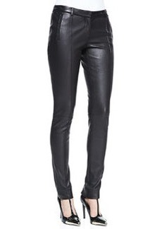 Jason Wu Stovepipe Leather Pants, Black