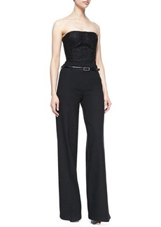 Jason Wu Strapless Jumpsuit with Full-Length Pants, Black