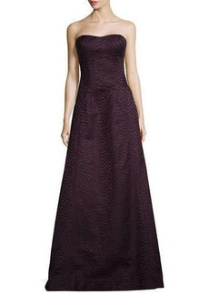 Jason Wu Strapless Wavy-Jacquard Ball Gown
