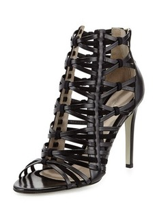 Jason Wu Strappy Leather & Suede Cage Sandal