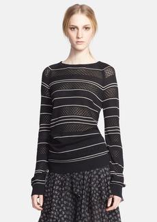 Jason Wu Stripe Pointelle Silk Sweater