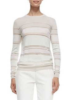 Jason Wu Striped Merino Pullover Sweater  Striped Merino Pullover Sweater