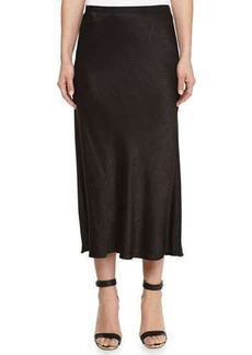 Jason Wu Swivel Jacquard Midi Skirt, Black