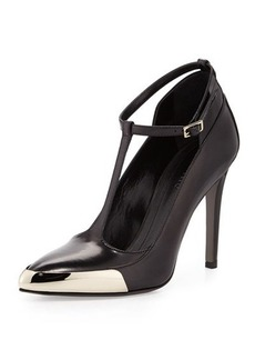 Jason Wu T-Strap Leather Pump, Black