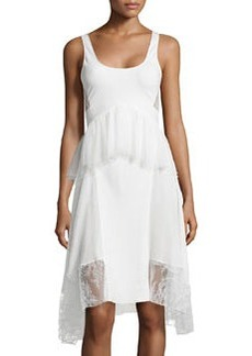 Jason Wu Tulle/Lace Peplum Tank Dress, Ivory
