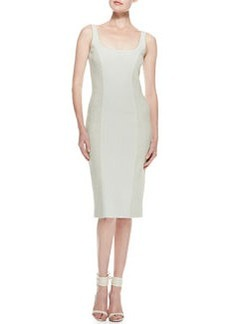 Jason Wu Tweed & Crepe Sheath Dress, Pale Sage