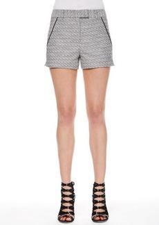 Jason Wu Tweed Piped-Pocket Shorts
