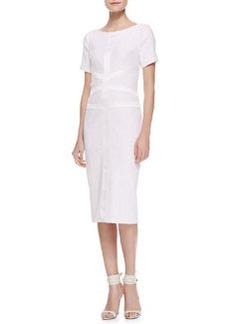 Jason Wu Tweed Satin Corset Dress, Ivory