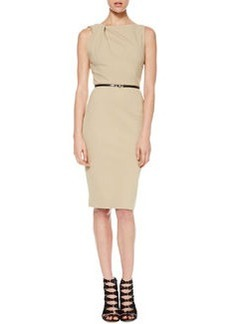 Jason Wu Twist-Shoulder Ponte Sheath