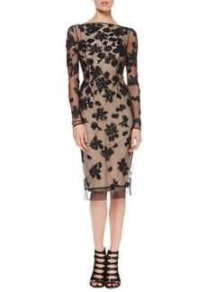 Jason Wu V-Back Sequined Tulle Dress