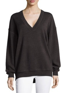 Jason Wu V-Neck Merino Wool Sweatshirt