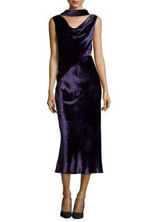 Jason Wu Velvet Dress with Draped Neckline