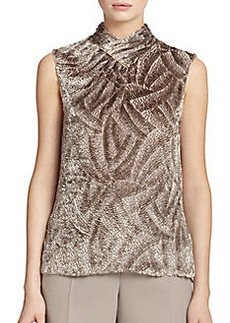 Jason Wu Velvet Jacquard Tie-Bar Shell Top