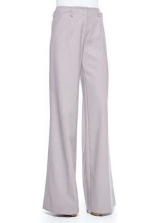 Jason Wu Wool Crepe Wide-Leg Trousers, Lilac