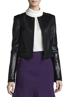 Jason Wu Zip-Front Leather Jacket