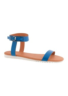 Abbot glossy leather slides