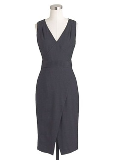 Angie dress in pinstripe Super 120s wool