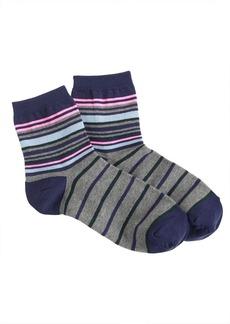 Ankle-stripe trouser socks