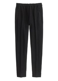 Ankle-zip pant in black