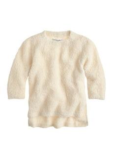 Apiece Apart™ fuzzy three-quarter sleeve crewneck sweater