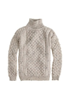 Aran Crafts™ fisherman cable-knit turtleneck sweater
