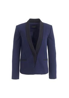 Asymmetrical crepe blazer