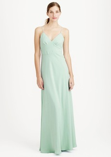 Aubrey long dress in drapey matte crepe
