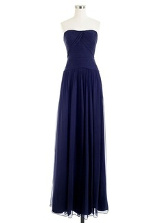 Ava long dress in silk chiffon