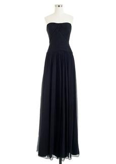 Ava long dress in silk chiffon