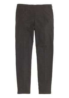 Back-zip pant in wool piqué