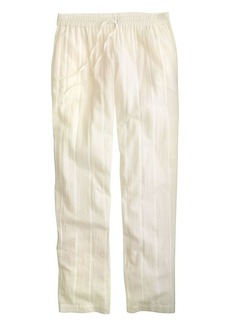 Beach pant in textured stripe