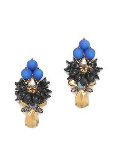 Blue sphere earrings