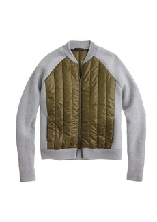 Boiled wool puffer bomber jacket