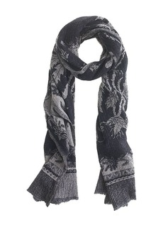 Boiled wool scarf