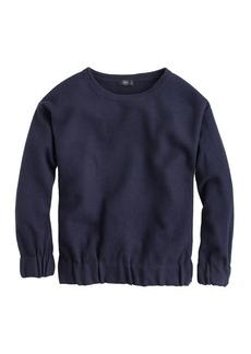 Boiled wool sweatshirt